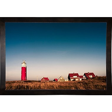 Breakwater Bay 'Texel Lighthouse' Photographic Print; Cafe Espresso Wood Framed Paper