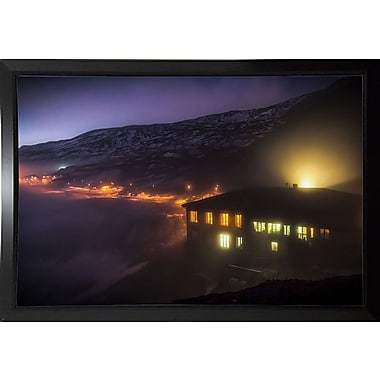 East Urban Home 'Under the Cloud' Photographic Print; Black Plastic Framed Paper