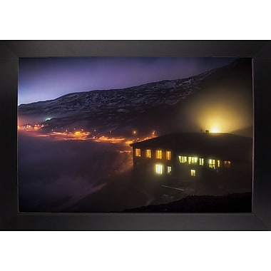 East Urban Home 'Under the Cloud' Photographic Print; Black Wood Large Framed Paper