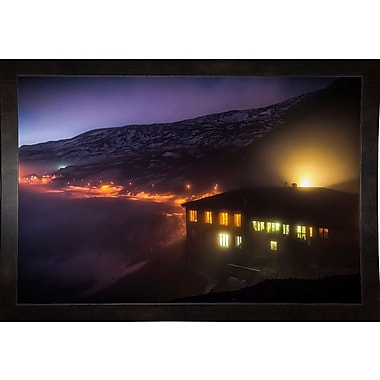East Urban Home 'Under the Cloud' Photographic Print; Black Wood Medium Framed Paper