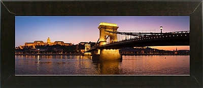 East Urban Home 'Panorama Budapest Chain Bridge' Photographic Print