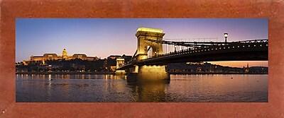 East Urban Home 'Panorama Budapest Chain Bridge' Photographic Print
