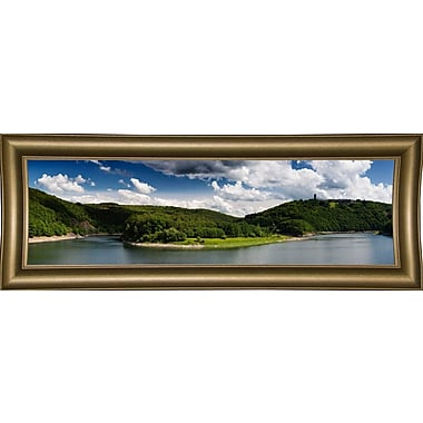 East Urban Home 'Panorama Eifel' Photographic Print; Bistro Gold Framed Paper