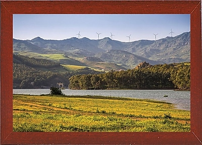 East Urban Home 'Wind' Photographic Print; Red Mahogany Wood Medium Framed Paper