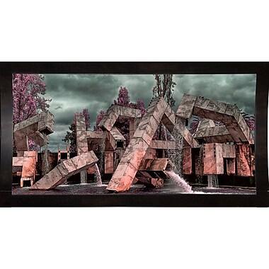 East Urban Home 'Vaillancourt Fountain' Photographic Print; Black Wood Medium Framed Paper