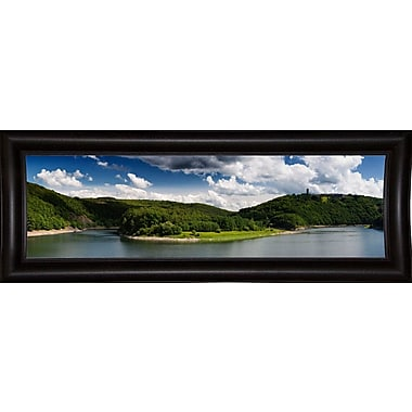East Urban Home 'Panorama Eifel' Photographic Print; Bistro Expresso Framed Paper