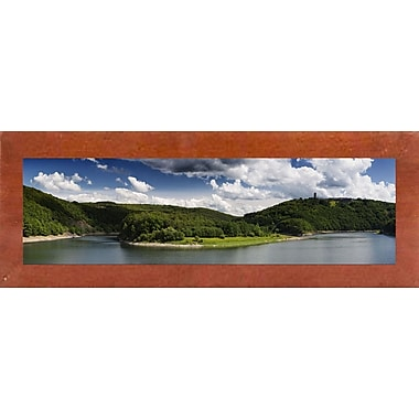 East Urban Home 'Panorama Eifel' Photographic Print; Canadian Walnut Wood Medium Framed Paper