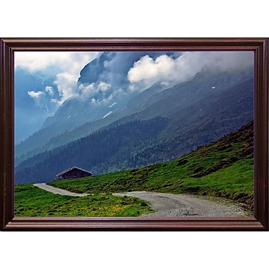 East Urban Home 'Shelter' Photographic Print; Cherry Wood Grande Framed Paper