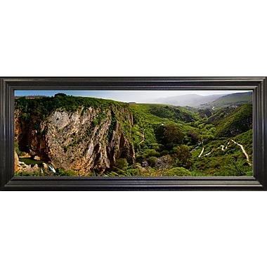 East Urban Home 'Panorama Israel No 2' Photographic Print; Black Wood Grande Framed Paper