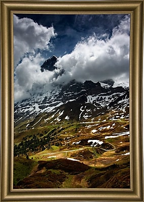 East Urban Home 'The North Face of Eiger' Photographic Print; Bistro Gold Framed Paper