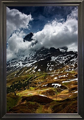 East Urban Home 'The North Face of Eiger' Photographic Print; Black Wood Grande Framed Paper