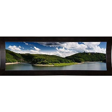 East Urban Home 'Panorama Eifel' Photographic Print; Cafe Espresso Wood Framed Paper