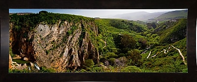 East Urban Home 'Panorama Israel No 2' Photographic Print; Black Wood Medium Framed Paper
