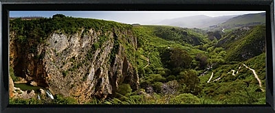 East Urban Home 'Panorama Israel No 2' Photographic Print; Shiny Black Metal Framed Paper