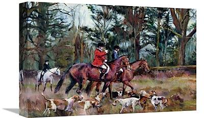 East Urban Home 'Foxhunt' Print on Canvas; 24'' H x 36'' W