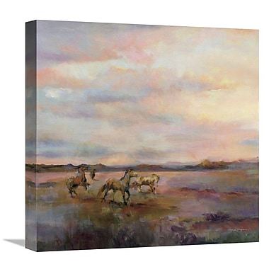 East Urban Home 'Mustangs Under Big Sky' Print on Canvas; 18'' H x 18'' W