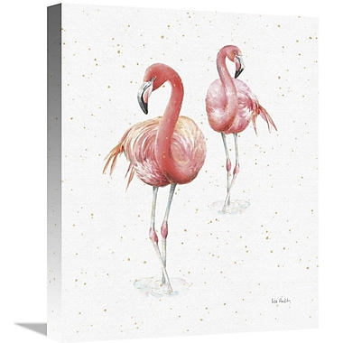 East Urban Home 'Gracefully Pink IX' Print on Canvas; 20'' H x 16'' W