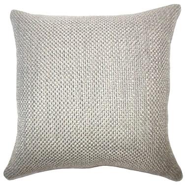 Gracie Oaks Nik Solid Down Filled Lumbar Pillow; Chinchilla