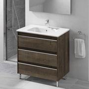 WS Bath Collections Belle 32'' Single Bathroom Vanity Set; Samara Ash