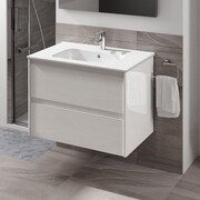 WS Bath Collections Ambra 24'' Single Bathroom Vanity Set; Gloss White