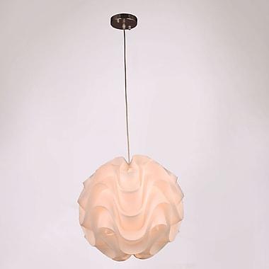 Orren Ellis Lynetta 1-Light Globe Pendant; 75'' H x 15.75'' W x 15.75'' D
