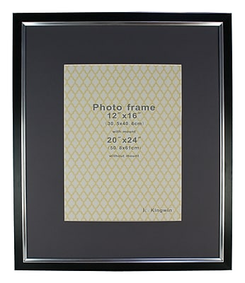Orren Ellis Kymari Picture Frame; Black