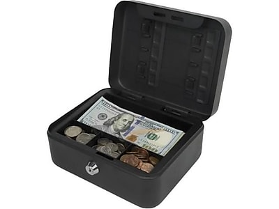 Royal Sovereign Compact Cash Box, Black (RSCB-100)