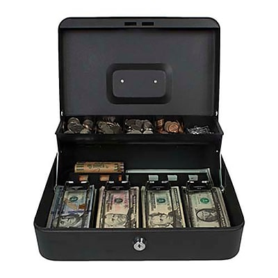 Royal Sovereign Tiered Tray Cash Box, Black