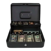 Royal Sovereign Tiered Tray Cash Box, Black (RSCB-400)