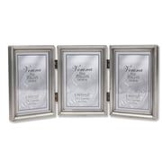"Lawrence Frames 3"" x 5"" Metal Pewter Hinged Triple Picture Frame (11535T)"