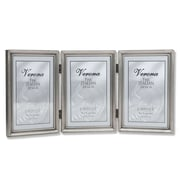"""Lawrence Frames 4"""" x 6"""" Metal Pewter Hinged Triple Picture Frame (11546T)"""