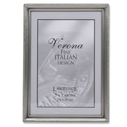 """Lawrence Frames 5"""" x 7"""" Metal Pewter Picture Frame (11557)"""