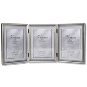 """Lawrence Frames 5"""" x 7"""" Metal Pewter Hinged Triple Picture Frame (11557T)"""