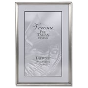 """Lawrence Frames 8"""" x 12"""" Metal Pewter Picture Frame (11582)"""
