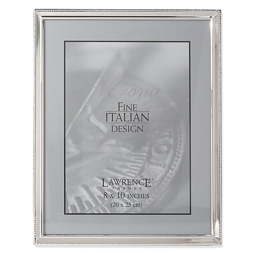 Lawrence Frames Verona Collection 8 X 10 Metal Silver Picture
