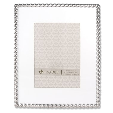 710080 Silver Metal Rope 8x10 Matted for 5x7 Picture Frame
