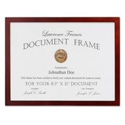 "Lawrence Frames 8.5"" x 11"" Wooden Walnut Brown Picture Frame (755681)"