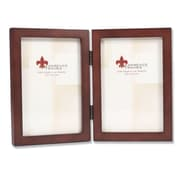 """Lawrence Frames 4"""" x 6"""" Wooden Espresso Hinged Double Picture Frame (755946D)"""
