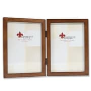 "Lawrence Frames 5"" x 7"" Wooden Nutmeg Double Picture Frame (766057D)"