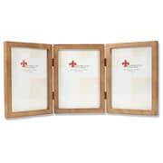 766057T Nutmeg Wood 5x7 Hinged Triple Picture Frame - Gallery Collection