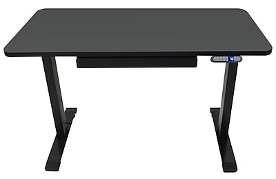 "Motionwise 24"" x 48"" Electric Height Adjustable Desk, Home Office Style, Black (SDG48B)"