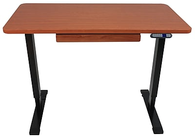 "Motionwise 24"" x 48"" Electric Height Adjustable Desk, Home Office Style, Deep Mahogany (SDG48R)"