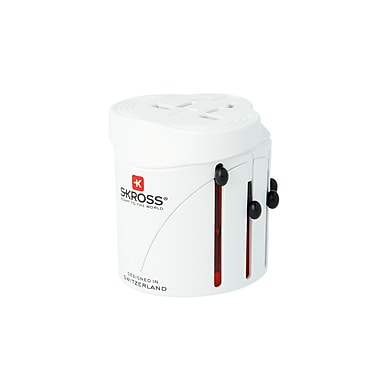 SKROSS Classic World Adapter with USB Port, White (1.300120)
