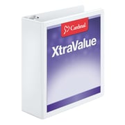 "Cardinal® Performer™ 3"" ClearVue™ Slant-D® Ring Binder, Trilingual (E17600)"