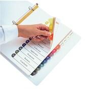 Oxford - Intercalaires avec table des matières double à onglets 1 à 12, format lettre, assorti, 10/paquet (PRD213-QV12)