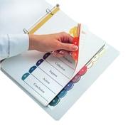 Oxford™ - Intercalaires avec table des matières double, onglets 1 à 8, format lettre, couleurs variées, 8/paq (PRD213-QV8)