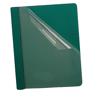 Oxford™ Premium Clear Front Report Covers, Letter Size, Dark Green, 25/Pack (58817)