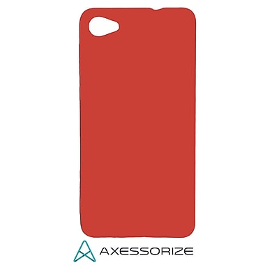 Axessorize COMBO Gel Case Alcatel A50, Tempered Glass Screen Protector, Red (ALC1053)