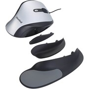 Goldtouch Ergonomic Newtral Medium Mouse Wired- Silver/Black (KOV-N200SCM)