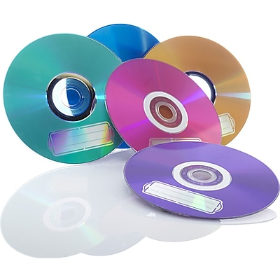 Verbatim CD-R 700MB 52X with Color Branded Surface, 10pk Bulk Box, Assorted (98939)